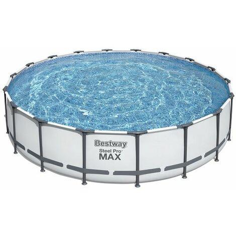 Piscine tubulaire ronde Bestway Steel Pro Max 5.49 x 1.22 m - Bleu