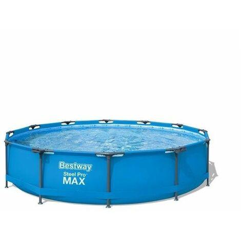 Piscine tubulaire ronde Bestway Steel Pro Max bleu 3,66 x 0,76 - Bleu