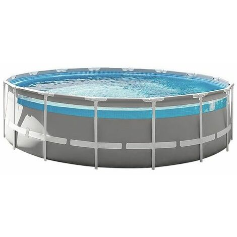 Piscine tubulaire ronde Intex Prism Frame Clear Window 4,88 x 1,22 m