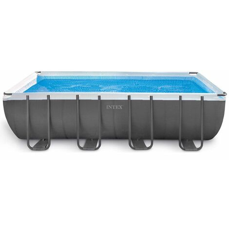 Piscine tubulaire Ultra Silver rectangulaire 5,49 x 2,74 x 1,32 m - Intex