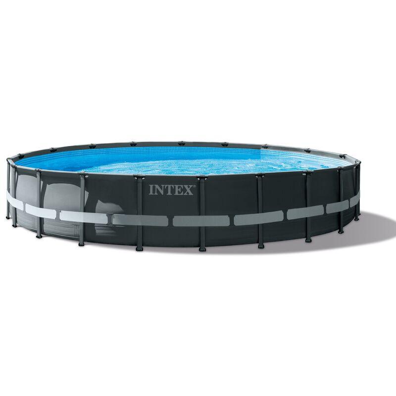 Piscine Hors Sol Ronde Ultra Frame Intex Diametre 610 Cm