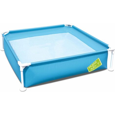 Piscinette carrée Melville 122x122x30,5cm, pataugeoire, petite piscine