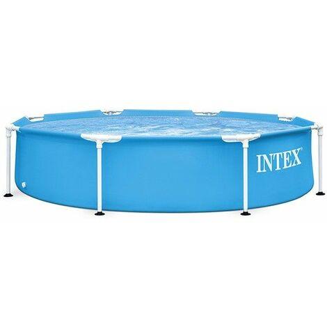 Piscinette Metal frame ronde Ø2,44 x 0,51 m - Bleu de Intex - Catégorie Piscine tubulaire