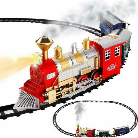 82 pz Set treno con Luce /& Sound Kids Bambino Giocattolo opere edilizie mattoni