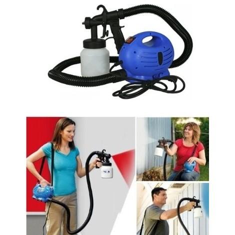 aerografo elettrico spray dipingere pitturare colorare pareti macchina legno