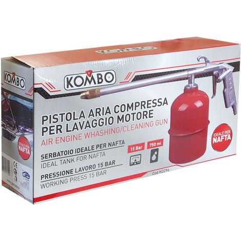 Pistola aria compressa con serbatoio 750 ml per lavaggio motore, max 15