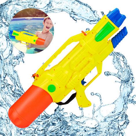 Pistola de Agua 1,8 L y Alcance de 10 Metros, PP, Multicolor, 27 x 63,5 x 12 cm
