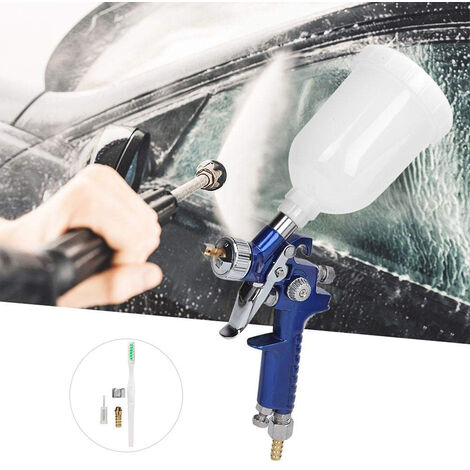Pistola de lacar rociadora pulverizadora con boquilla 1,8 mm Pintar Aerografía Azul