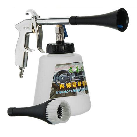 Pistola de Limpieza de automóviles | Pulso de Aire de Alta presión + Cepillo - Superficie Multifuncional Kit de Limpieza Exterior Interior