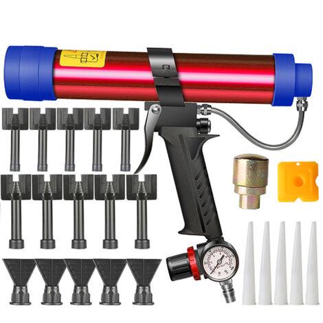 Pistola de pegamento de vidrio neumatica ajustable, herramienta de pistola de goma de aire, aplicador de sellador de pegamento duro de 310 ml, herramienta de pistola de calafateo