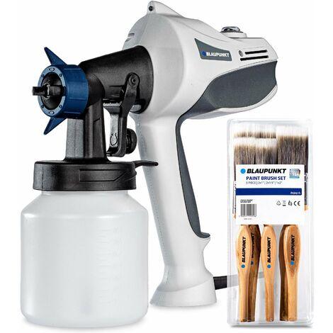 Pistola de pintura eléctrica Blaupunkt PG3000 - 450W - Potencia ajustable - 70din - 750ml / min -800ml recipiente - 5 boquilas + accesorios de limpieza