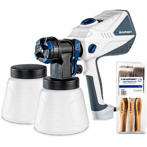 Pistola de pintura Eléctrica Blaupunkt PG4000 -600 W - Potencia ajustable - 100din - 1200 ml / min - Tanque de 1.2L - boquilla en nylon -Incluye 5 cepillos