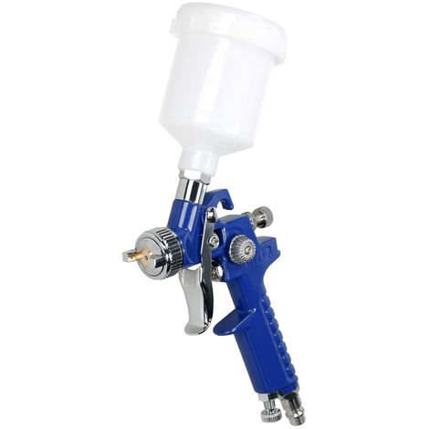 Pistola de pintura para coche pintura compresor aire 100 ml - 0,8 mm acero inox.