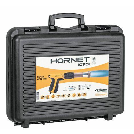 Pistola de retractilar HORNET de 70 KW para aplicar calor a la envoltura retráctil de fundas en polietileno para palets.