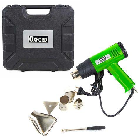 Pistola decapante de pintura térmica 2000W 350-600 grados accesorios y maletín
