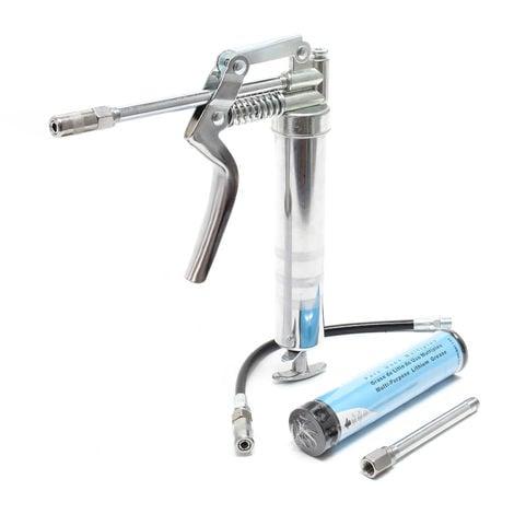 Pistola engrasadora 90ml con 3 boquillas lubricación precisa de piezas máquinas rodamientos 137,9bar