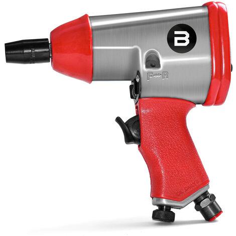 Pistola neumatica de impacto de aire comprimido Pernos de 1/2 pulgada Caja de ruedas con 10 brújulas incluidas