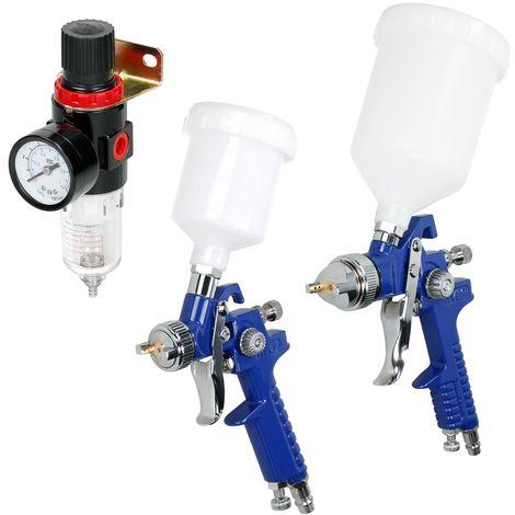 Pistolas de pintar boquillas 0,8 mm 1,4 mm vaso 100 ml/600 ml separador de agua