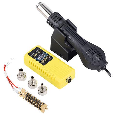 Pistolet à air chaud station de dessoudage combo 110 220 V affichage numérique température réglable téléphone portable réparation pistolet à air chaud