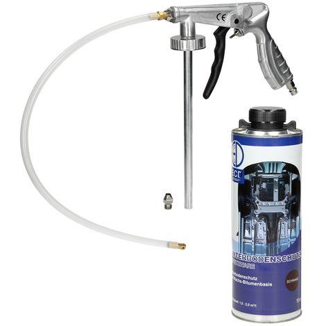 Pistolet à insonorisant à air comprimé anti gravillon + 1L spray Anticor