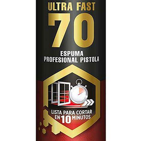 Pistolet à mousse polyuréthane pour portes/fenêtres Haute Performance Jaune Ultrafast 70 130185