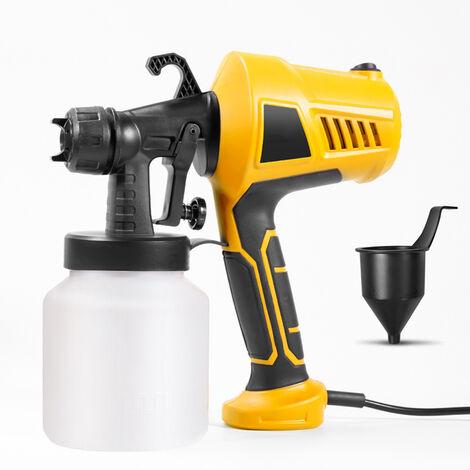 Pistolet à peinture 400W Pulvérisateur de peinture avec réservoir amovible de 800 ml, 3 modèles de pulvérisation. 650 ml