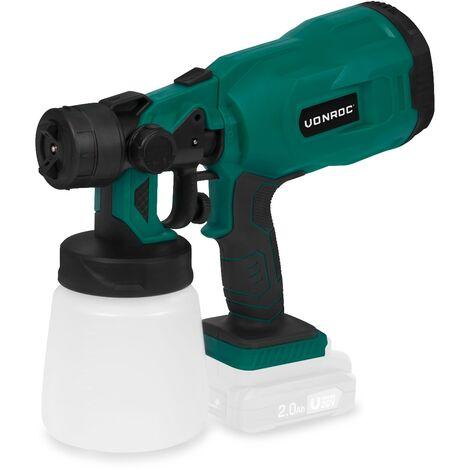 Pistolet à peinture sans fil VPower 20V – Capacité de 800 ml - Sans batterie ni chargeur - Accessoires inclus
