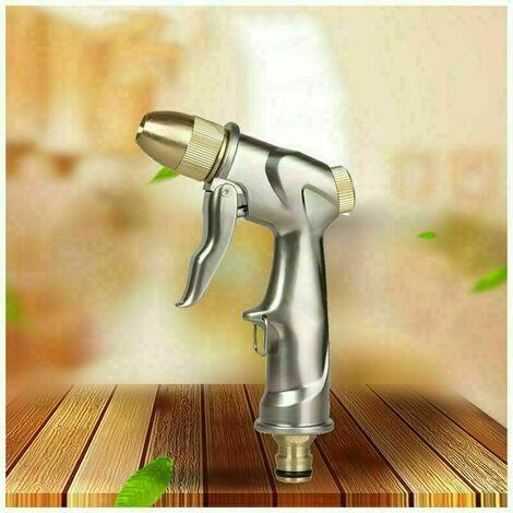 Pistolet d'arrosage métal Pistolet Arrosoir, bouton de contrôle de débit facile, Pulvérisateur de Jardin à haute pression professionnel, Puissant pour Lavage de Voiture, Arrosage de Jardin,Facile à utiliser