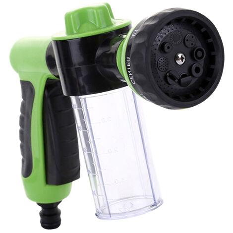 Pistolet de distributeur de savon de buse de mousse de tuyau d'eau de jardin de pulverisateur de mousse pour l'arrosage de plantes de douche d'animaux de compagnie de lavage de voiture, modele: vert 17