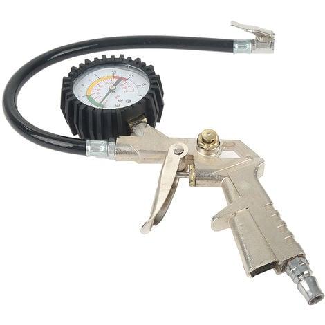 Pistolet de gonflage pneumatique - manometre gonfleur 16 bars auto moto cycle
