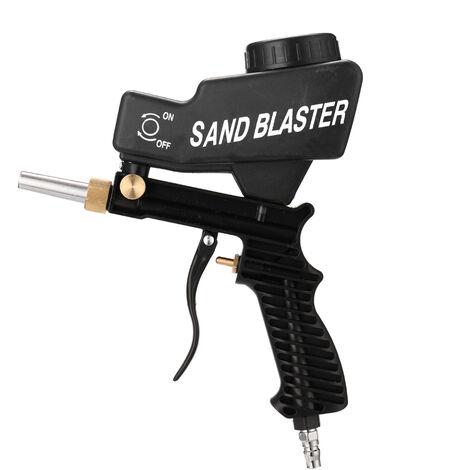 Pistolet de sablage ¨¤ gravit¨¦ portable Ensemble de sablage pneumatique Sableuse antirouille Petite machine de sablage au jet de sable