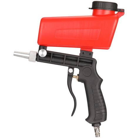 Pistolet de sablage pneumatique Petit sablage a main Pistolet de sablage pneumatique portable