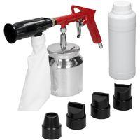 Pistolet de sablage pneumatique pour compresseur + buses sac bouteilles 2,4 kg