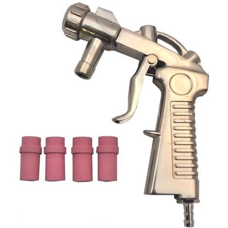 Pistolet de sablage pour Microbilleuse Cabine de Sablage avec 4 buses