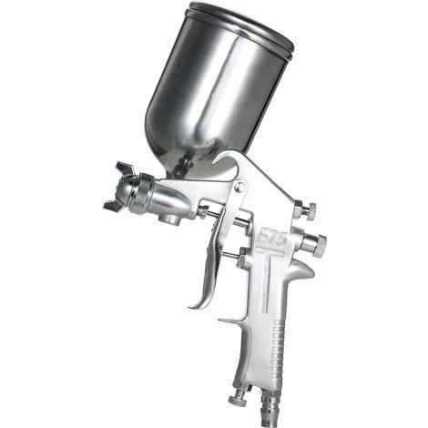 Pistolet Pulverisateur A Alimentation Par Gravite, Acier Inoxydable, Buse De 1.5Mm, 400Ml