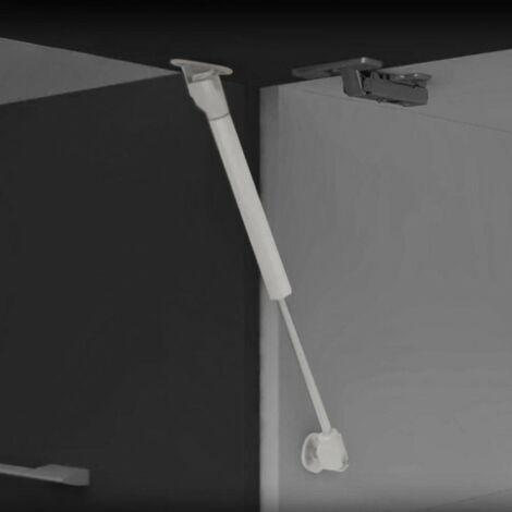 Piston pour portes relevables - Force 11 kg - Parcours 80 mm - Gris métallisé