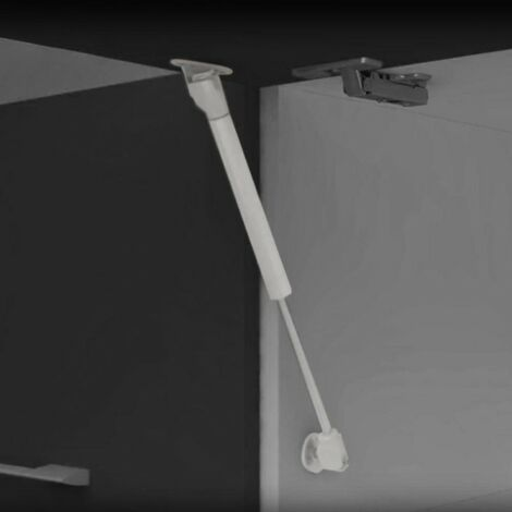 Piston pour portes relevables - Force 12 kg - Parcours 80 mm - Gris métallisé