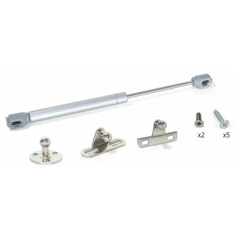 Pistone a gas per mobile x anta ribalta, ammortizzatore h vasistas 120n - 275 mm dimensione disponibile: 120n - 12 kg