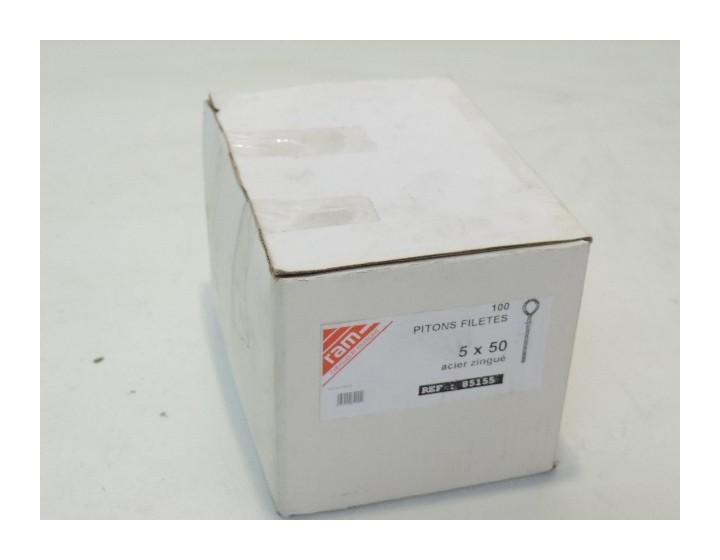 2/vis /à anneau /Œillet en acier inoxydable M8/x 100/mm en boucle