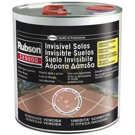 Pittura invisibile impermeabilizzante pavimenti esterni ed interni lt.2,5 vernice rubson sx9000 - Salone