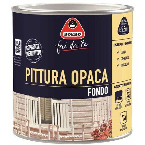 """main image of """"Pittura Opaca di Fondo Legno Riempitiva Sottosmalto Interni Bianco 775 Boero"""""""