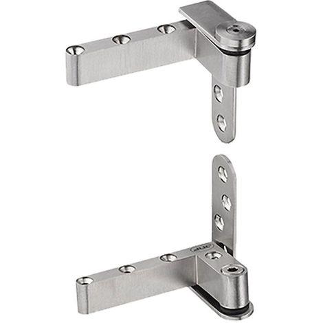 Pivot haut-bas porte bois - Charge : 40 kg - Décor : Satiné - Matériau : Inox 304 - Pour porte d'épaisseur : 35 à 45 mm - ITAR