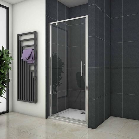 Pivot Shower Door Hinge Shower Screen Panel 700/760/800/900/1000mm Safety Glass Shower Tray Optional, Free Waste