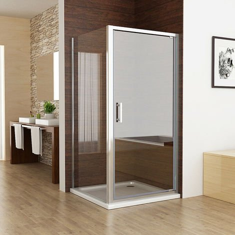 Pivot Shower Enclosure Door 6mm Safety Nano Glass Shower Cubicle 1850 mm Height