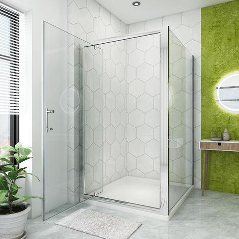 Pivot Shower Enclosure Glass Screen Door Cubicle Panel