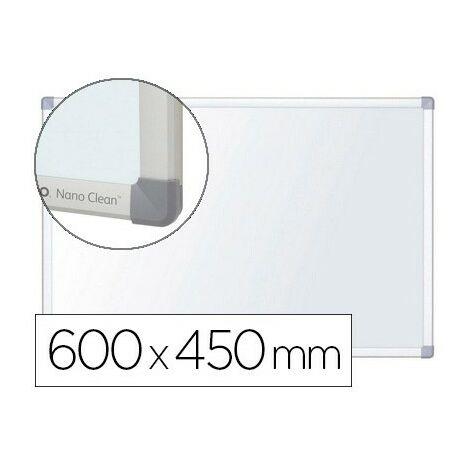 Pizarra blanca nobo nano clean magnetica lacada acero marco aluminio 600x450 mm