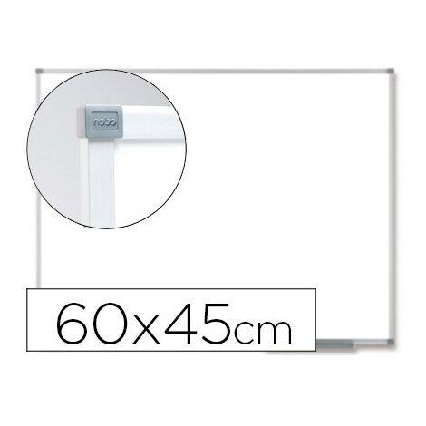 Pizarra blanca nobo prestige magnetica de acero vitrificado 600x450 mm