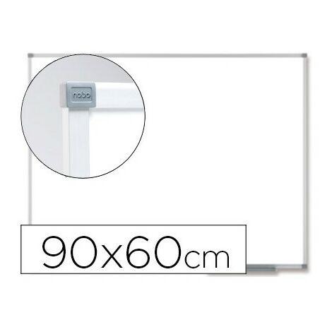 Pizarra blanca nobo prestige magnetica de acero vitrificado 90x60 cm