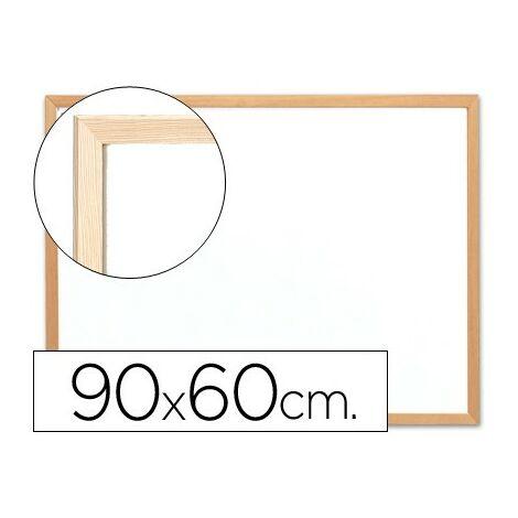 Pizarra blanca q-connect melamina marco de madera 90x60 cm
