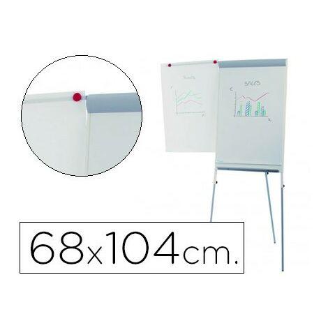 Pizarra blanca rocada con tripode para conferencias magnetica lacada brazo extensible 68x104 cm altura